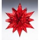 арт.Н241209-2 Звезда из фольги средняя, диаметр 60см, цвет-красный